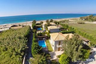 lefkada aeriko villas aerial photo view